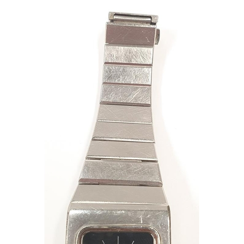 28 - Omega Constacation Automatic stainless wrist watch, working....