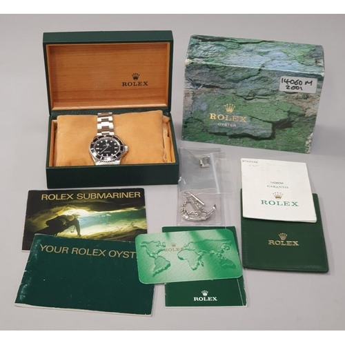 11 - Rolex Submariner 14060M, Box and Papers, Dated 2001....