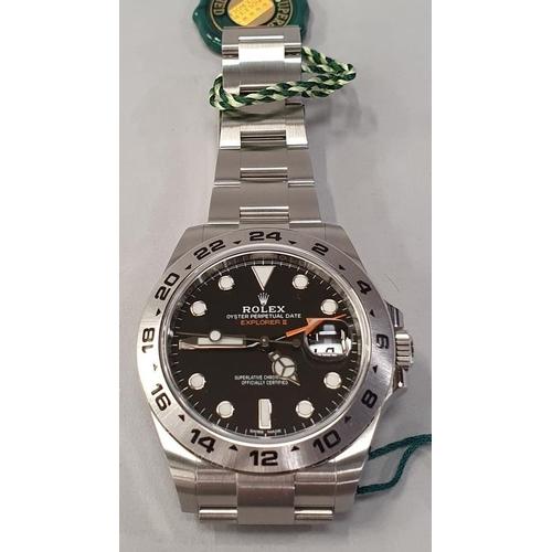 13 - Rolex Explorer II Model 216570, Boxed Unworn....
