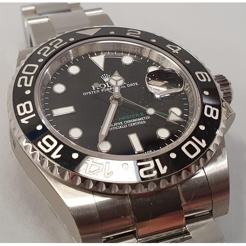 16 - Rolex GMT II, Model 116710LN, box and papers, 2016....