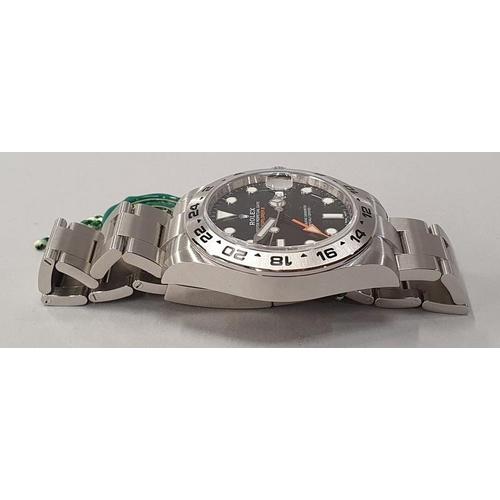 22 - Rolex Explorer II, Model 216570, box and papers unworn....