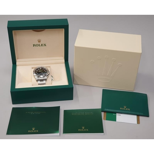 27 - Rolex Air King Model 116900, Box and Papers, 2018 Unworn....