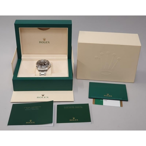 6 - Rolex Anniversary red sea dweller, boxed and papers, unworn with stickers....