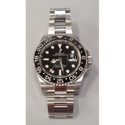 9 - Rolex GMT II, Model 116710LN 2017, Box and Papers...