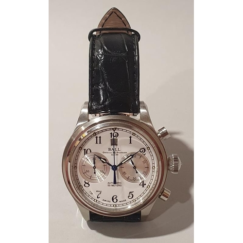 19 - Gentleman's Automatic chronograph watch by Ball with box and papers....