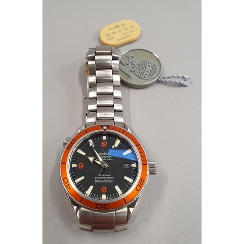37 - Omega Seamaster Planet Ocean. Co-Axial 600 meters. 40mm case size. Year of manufacture 2008. Full Om...