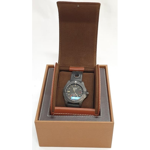 20A - Breitling Blackbird watch in box with papers....