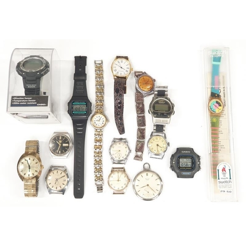 25A - A collection of wristwatches to include Seiko, Casio, Sekonda and others....