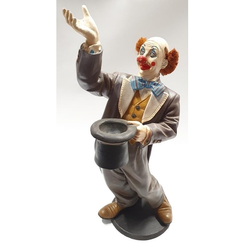13 - A large modern model of a clown....