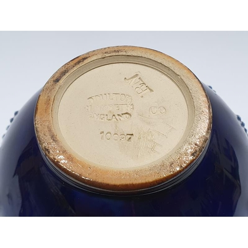 19 - Royal Doulton Lambeth stoneware posy vase 10097....