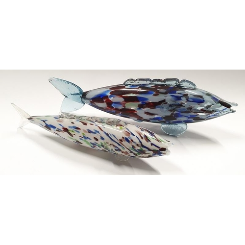 45 - Two Murano glass fish....