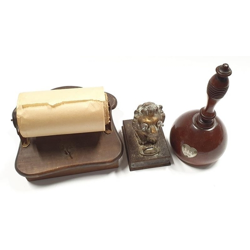 50 - Mixed lot of collectables to include Antique lion torch, vintage musical toilet roll holder and anot...
