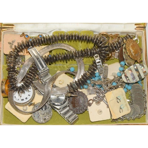 1362 - Box of miscellaneous jewellery and watches....