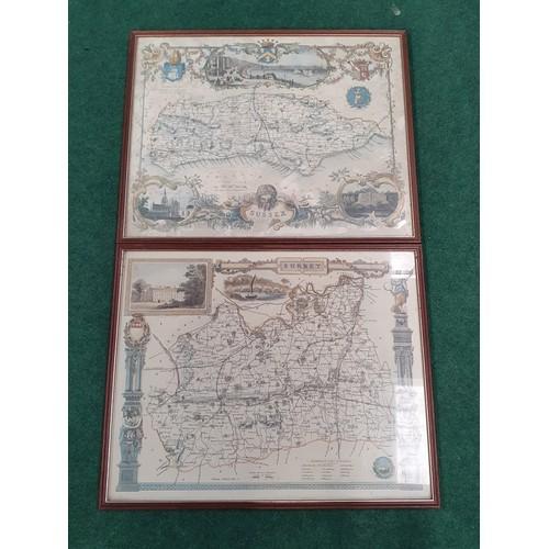 1450 - Two framed maps.
