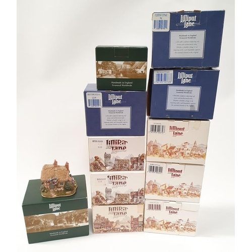 115 - Lilliput Lane x 11: Finders Keepers, Dovecot, Petticoat Cottage, Great Expectations, Otter Reach, Mi...