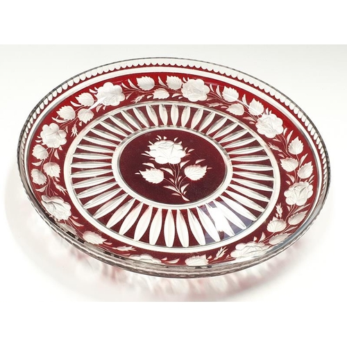47 - A Bohemian glass centre table dish....