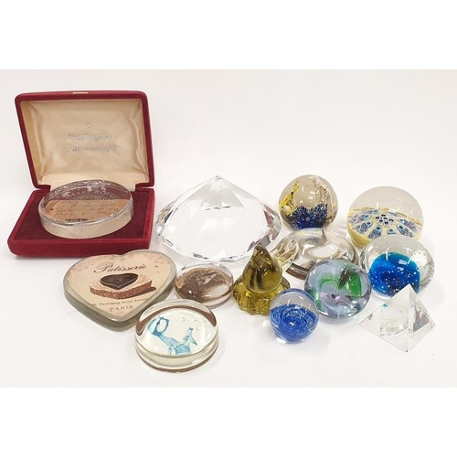 63 - A collection of paperweights to include Dartington  Caithness Millifori....