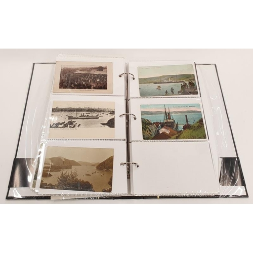 290 - A good album of photographic and other vintage postcards mainly to do with shipping.