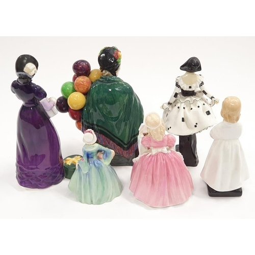 30 - Royal Doulton lady figure good day sir HN 2896 together with 5 other Doulton figurines to include Ba...