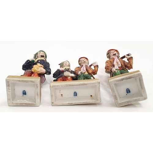 52 - Three Royal Vienna figures of vagabonds....