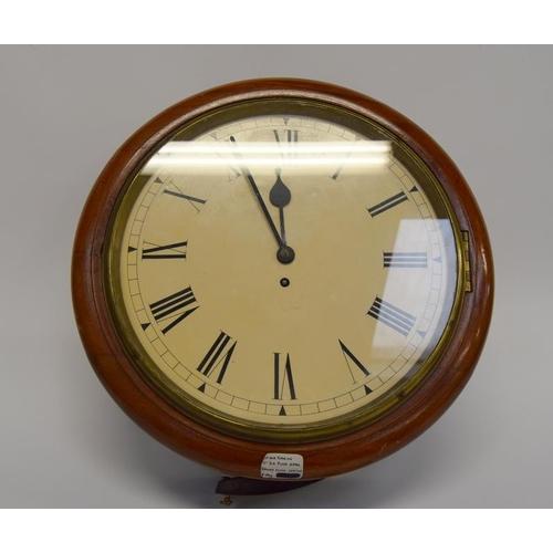 1384 - Victorian Fusee railway clock - working....