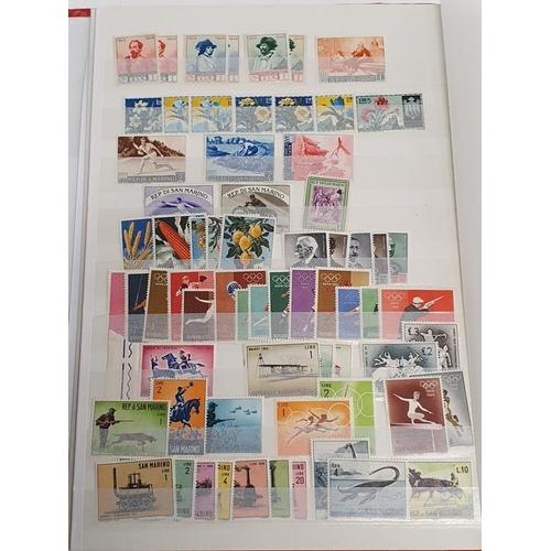 315 - Red Album of San Marino Stamps.