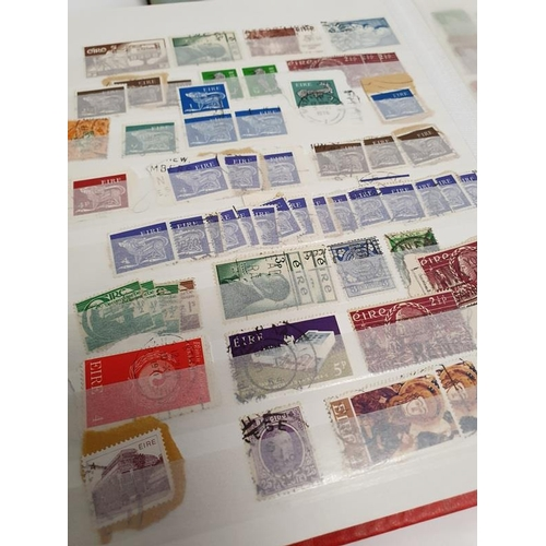 322 - Two Red Albums and a Black Album of Irish Stamps.