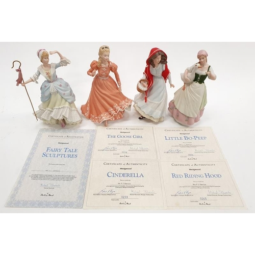 92 - Wedgwood figurines with certificates....
