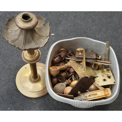 271 - Quantity brass and other  furniture fitments.