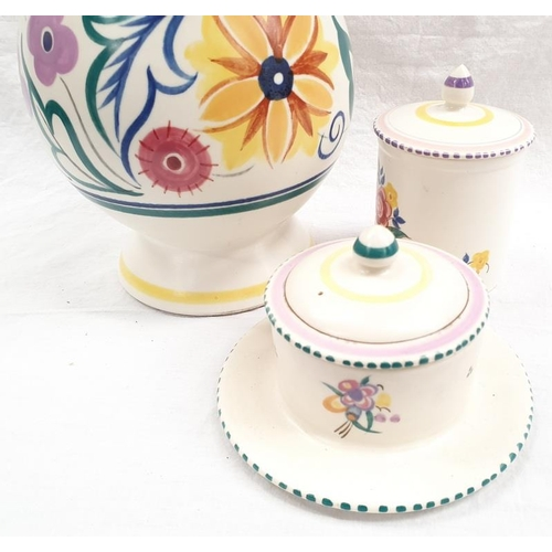 109 - Three items of traditional pattern Poole Pottery to include a lamp....