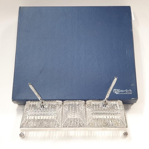 71 - Waterford crystal desk sets in its box.