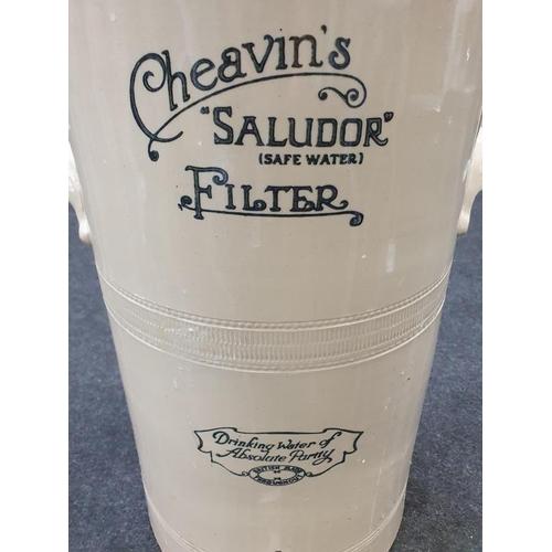 406 - An antique porcelain Cheavin's