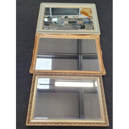 412 - Three gilt mirrors.
