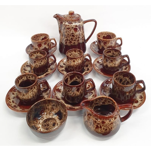 413 - Fosters pottery coffee set....