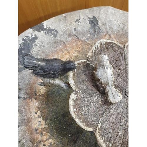 6 - A vintage cast bird bath....