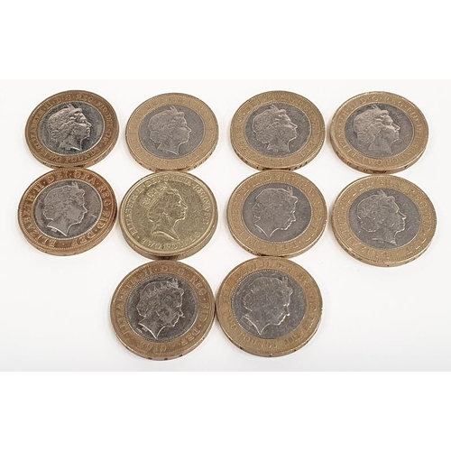 331A - 10 different £2 coins of special occasions....