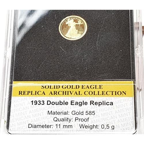 1123 - 1933 14ct double eagle replica coin....