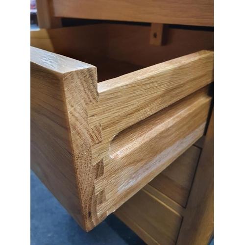 1410 - Oak pair of bedside cabinets....