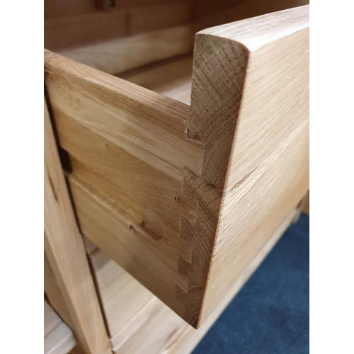 1415 - Large oak dresser top and base....