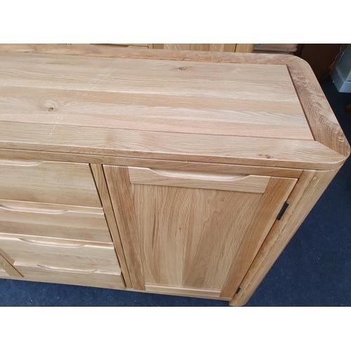 1416 - Large oak dresser base...