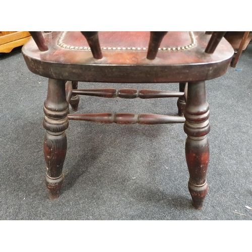 1418 - Oak smokers bow chair....