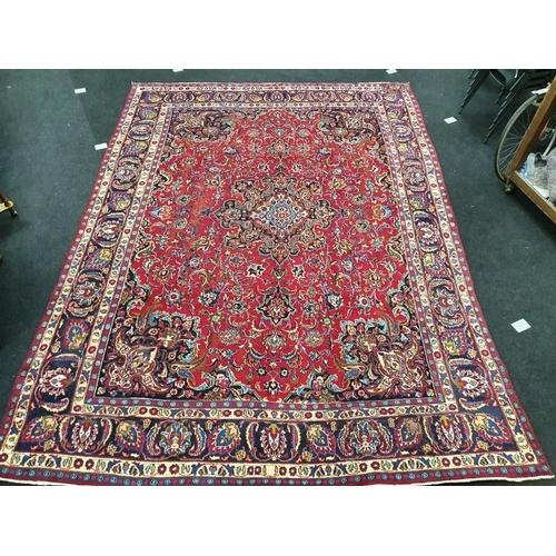 1420 - Mashad room size carpet. 383x283cm....