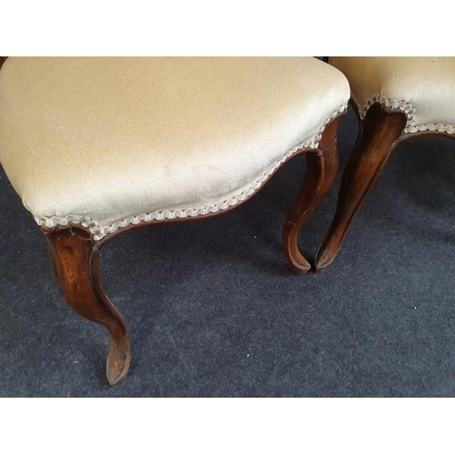 1424 - Three Victorian mahogany balloon back dining chairs (one af)....