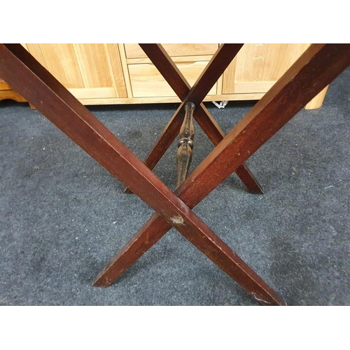 1427 - Mahogany butlers tray on stand....