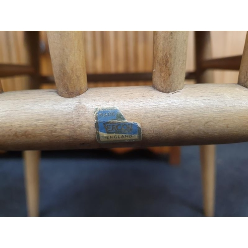 1431 - Four Ercol Blonde Blue Label Goldsmith chairs...