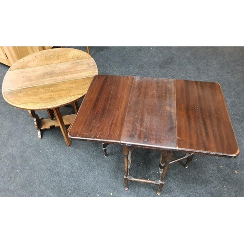 1436 - Small all side tables one in the Sutherland Style the other in the Oak twist top style....