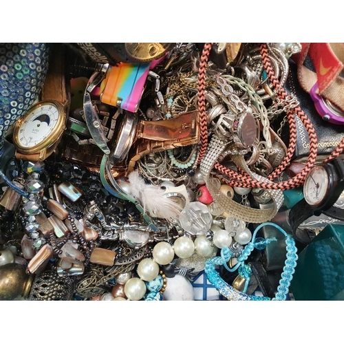 1399 - A large quantity of mixed costume jewellery watches etc...