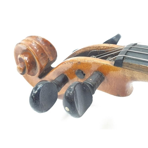 441 - An Edmund Paulus vintage German Violin with two bows in case.
