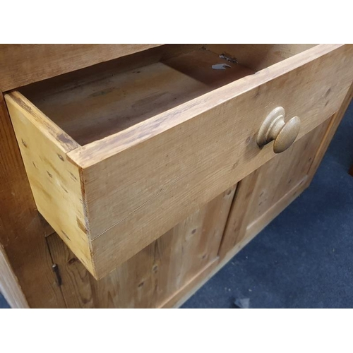 1497 - Victorian pine dresser base, two drawers over two cupboards....