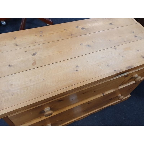 1498 - Low two drawer pine chest of drawers....